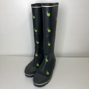 J crew pear tall rain boots